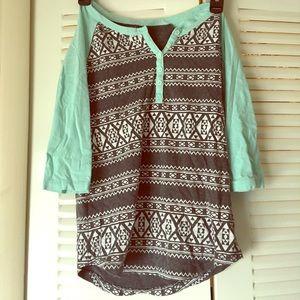 Aztec midarm shirt